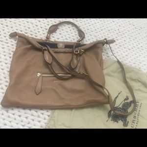 Burberry Large Leather Crossbody Purse